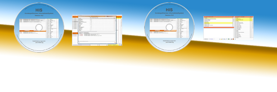 Set-Angebot - 2 CDs HIS Vers. 9.2 & Die Diagnose Homöopathie DDH 9.2 Software