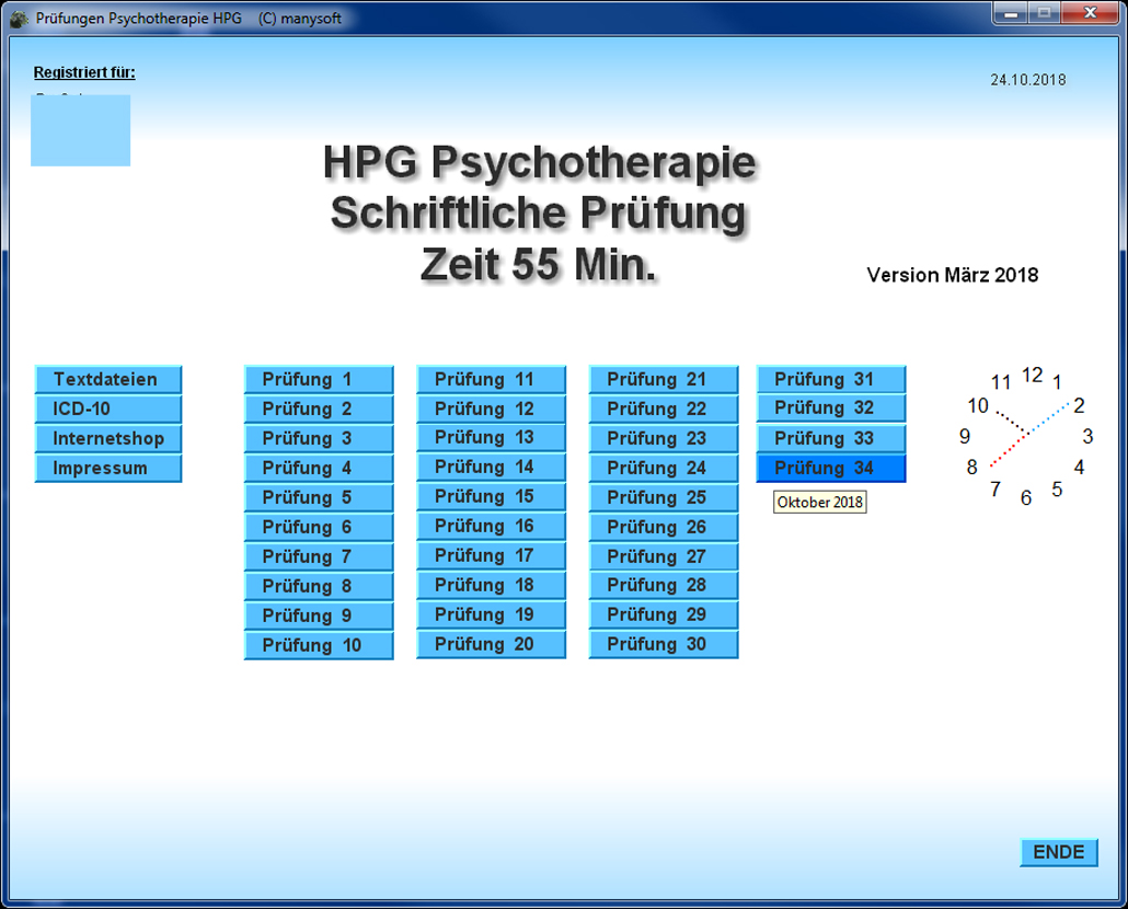 Prüfungstrainer Heilpraktiker Psychotherapie mit Oktober 2019 DOWNLOAD